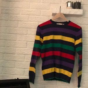H&M youth colorful striped sweater
